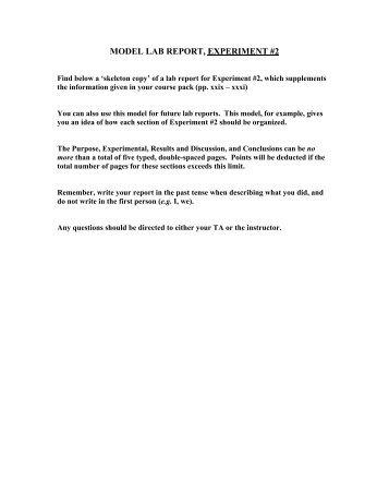 MODEL LAB REPORT, EXPERIMENT #2