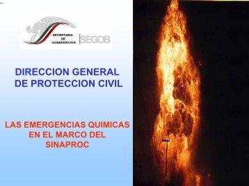 Las emergencias quimicas en el marco del SINAPROC - UNAM