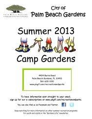 Camp Gardens Newsletter - City of Palm Beach Gardens