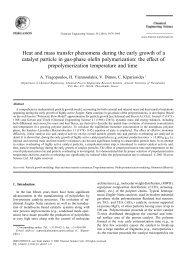 Heat and mass transfer phenomena during the early growth of a ...