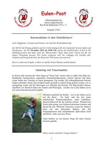 Eulenpost 2/2011 - KG Rot-Weiss Habbelrath 1972 eV