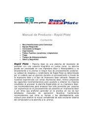 Manual de Producto - Rapid Plate - Proveedora de las artes graficas