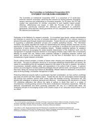 The Committee on Institutional Cooperation (CIC) - University of ...