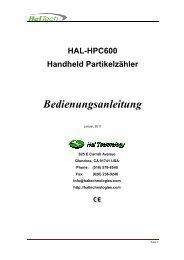 HAL-HPC600 Handheld Partikelzähler ... - ccs-wildberg.de