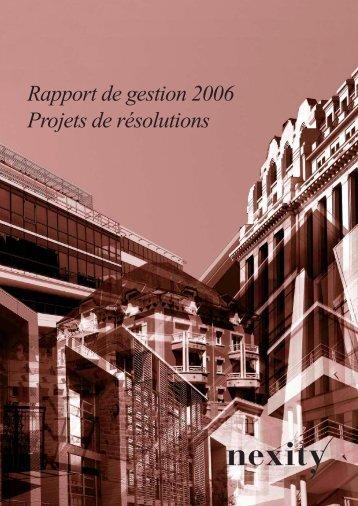 Rapport de gestion 2006 - 15-05-2007 (.pdf 440.47 Ko) - Nexity