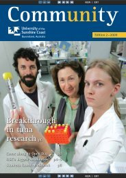 Edition 2, 2009 (PDF 2.2MB) - University of the Sunshine Coast