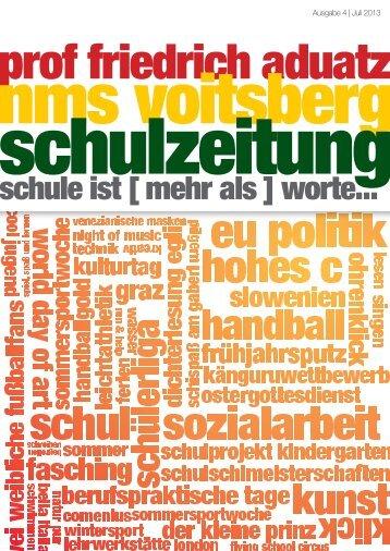 Schulzeitung - nms Voitsberg - Ausgabe 4