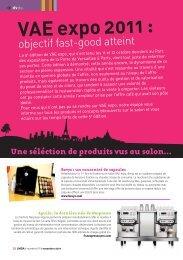 VAE expo 2011 : - LMDA - Le Monde De La Distribution Automatique
