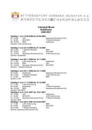 Spielplan für die Saison 2006/2007 als PDF