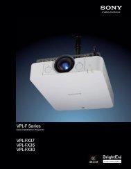 VPL-F Series VPL-FX37 VPL-FX35 VPL-FX30 - Sony