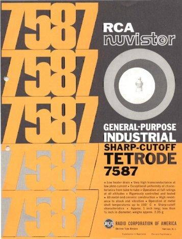 RCA 7587 Nuvistor