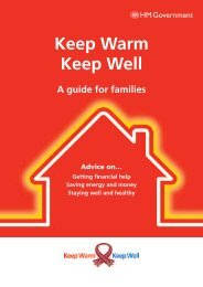Keep Warm, Keep Well - A guide for families - Gov.uk