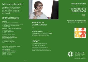 SCHATZKISTE OFFENBACH - Behindertenhilfe Offenbach