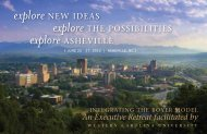 explore - Western Carolina University
