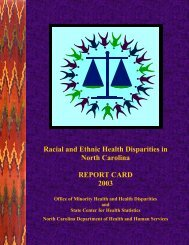Report Card 2003 - State Center for Health Statistics