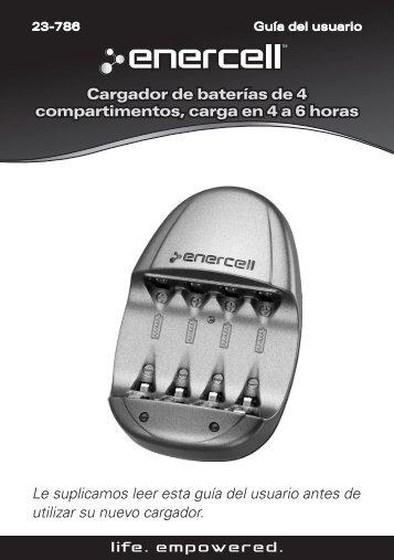 Cargador de baterías de 4 compartimentos, carga en ... - Radio Shack