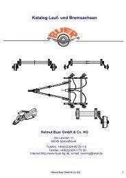 Katalog Achsen - Helmut Buer GmbH & Co. KG
