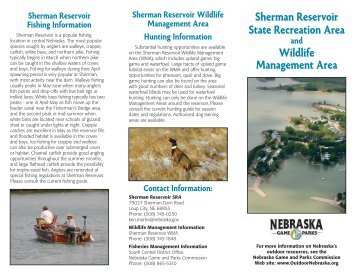 Sherman Reservoir - Nebraska Game and Parks Commission