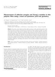 Measurement of adhesion energies and Young's modulus in thin ...