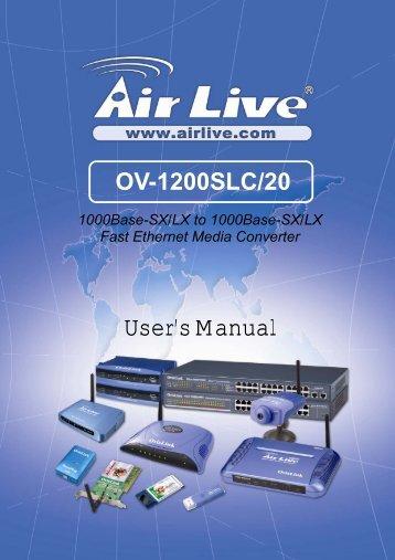 AirLive OV-1200SLC/20 User's Manual - kamery airlive airlivecam