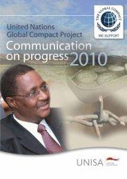 Communication on Progress 2010 | i - University of South Africa