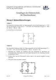 Fachgebiet Leistungselektronik und Elektrische Antriebstechnik
