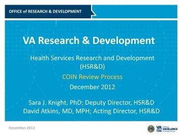 VA Research & Development - HSR&D
