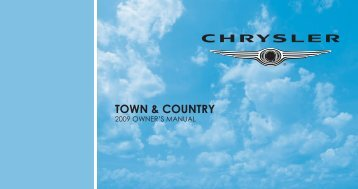 2009 Chrysler RT Town & Country Owner Guide