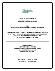 REQUEST FOR PROPOSALS - Westchester County Government