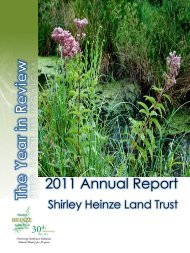 2011 Annual Report - Shirley Heinze Land Trust