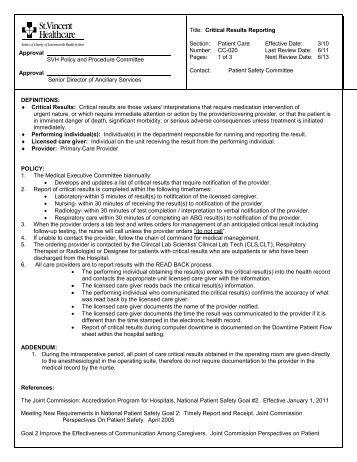 DEFINITIONS - St. Vincent Healthcare