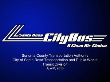 Santa Rosa CityBus Presentation - Sonoma County Transportation ...