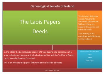 The Laois Papers - Genealogical Society of Ireland