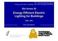 Presentation of the IEA Annex 45 - Lighting Laboratory