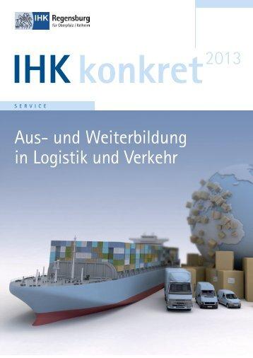 Aus- und Weiterbildung in Logistik und Verkehr - IHK Regensburg