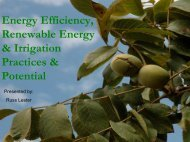 Energy Efficiency, Renewable Energy & Irrigation Practices & Potential