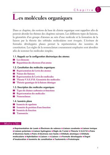 Chimie organique - Cours - Numilog