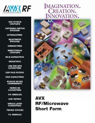 RF Microwave Short Form - AVX