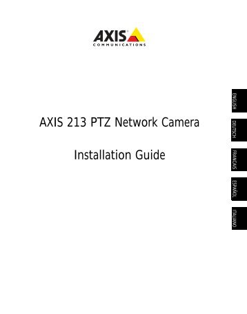 AXIS 216FD Network Camera Driver Windows XP