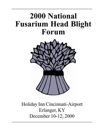 2000 National Fusarium Head Blight Forum - U.S. Wheat and Barley ...