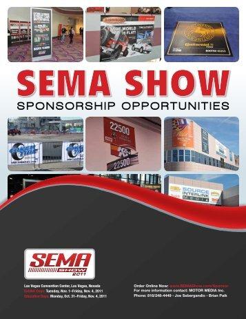 SponSorShip opportunitieS - SEMA Show