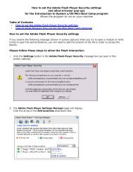 How to set the Adobe Flash Player Security settings and allow ...