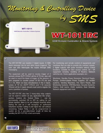 Catalogue For WT-1011RC - Witura