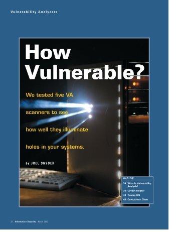 Vulnerability - tabpi