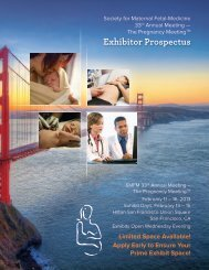 Exhibitor Prospectus - Society for Maternal-Fetal Medicine