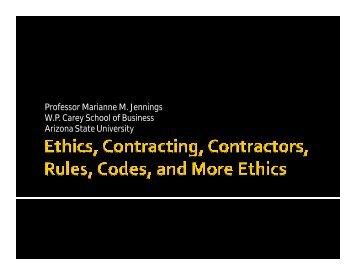 Dr. Marianne Jennings Ethics Presentation.ppt [Compatibility ... - efcog