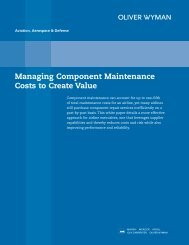 Managing Component Maintenance Costs to Create ... - Oliver Wyman
