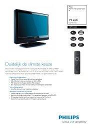 19PFL3403/10 Philips Flat TV met Crystal Clear III - Hardware