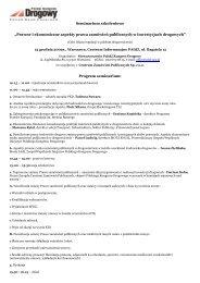 Seminarium szkoleniowe - Polski Kongres Drogowy