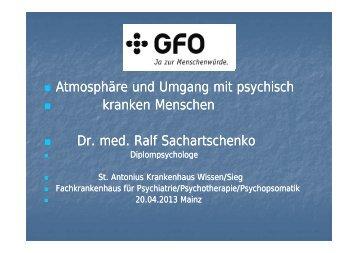 Referat Dr. Ralph Sachartschenko